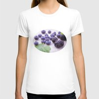 fruits T-shirts featuring Blue Fruits by Tanja Riedel