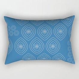 stitches in blue Rectangular Pillow