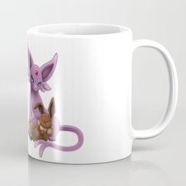 Espeon and Eevee Pup Coffee Mug