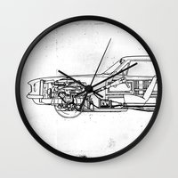 muscle Wall Clocks featuring Muscle Car by Fernando Vieira