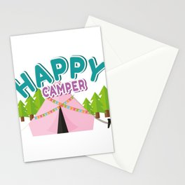 Happy Camper Vacation Camping Gifts Stationery Cards
