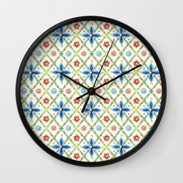 Millefiori Heraldic Lattice Wall Clock