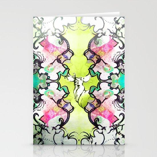 Kaleidoscope Deer Stationery Cards