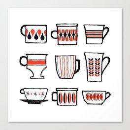 mod mugs Canvas Print