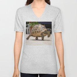 Marching Baby Tortoise  Unisex V-Neck