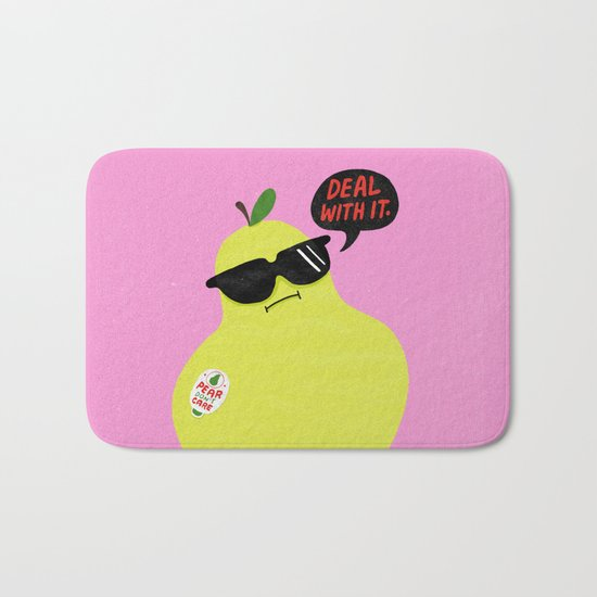Pear Don't Care Bath Mat