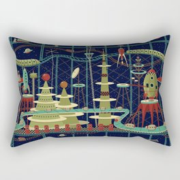 Fantastic Launch Station Rectangular Pillow
