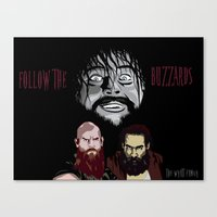 wwe Canvas Prints featuring WWE - The Wyatt Family by Chaotic Color