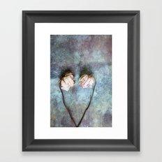 Heart of Roses II Framed Art Print