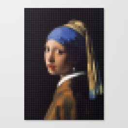 Lego: Girl with a pearl earring Canvas Print
