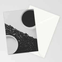 Black and White Coffee Stationery Cards
