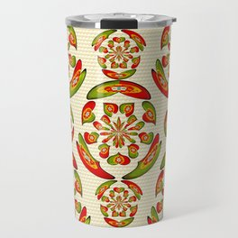 Portuguese flag pattern Travel Mug