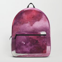 Blushing [5]: a minimal abstract watercolor and ink piece in shades of purple and red Backpack