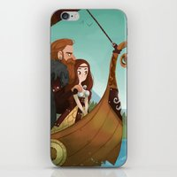 vikings iPhone & iPod Skins featuring Vikings by Supergna
