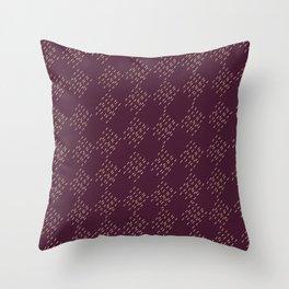 Burgundy checkered pattern Throw Pillow
