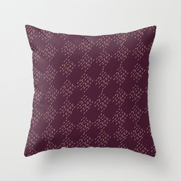 Burgundy checkered pattern Throw Pillow