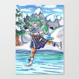 Miku on Ice Canvas Print