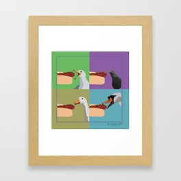 sausage Framed Art Print
