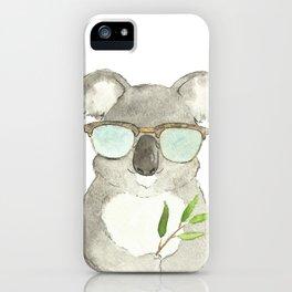 Mr. Koala in sunglasses iPhone Case