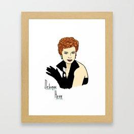 Deborah Kerr Portrait Framed Art Print