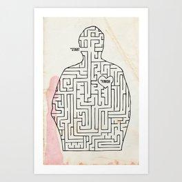 mazey Art Print
