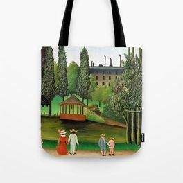 12,000pixel-500dpi - Henri Rousseau - View of Montsouris Park, the Kiosk - Digital Remaster Tote Bag
