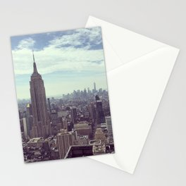 New York Birds Eye Aerial View Stationery Cards