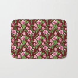 Roses -Burgundy Bath Mat
