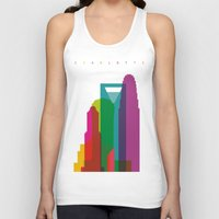 fargo Tank Tops featuring Shapes of Charlotte accurate to scale by Glen Gould