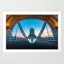 London Crystal Bridge Art Print
