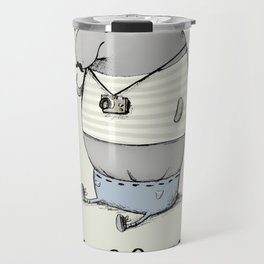 Hipsterpotamus Travel Mug