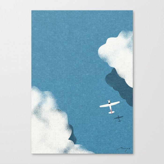 Over the sea Canvas Print