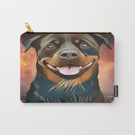 Rottweiler - BEGIN EVERYDAY WITH A SMILE Carry-All Pouch