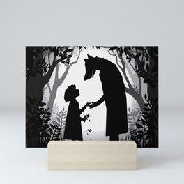 Meeting The Wolf Mini Art Print