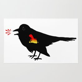 Red-winged Blackbird Rug