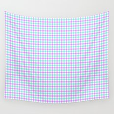 Gingham purple and teal Wall Tapestry