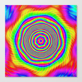 Psychedelic Sunburst Canvas Print