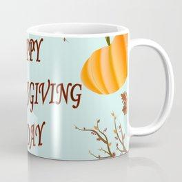 Happy Thanksgiving day postcard Coffee Mug