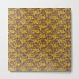 Hashy - Mustard Metal Print