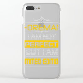 FOREMAN Clear iPhone Case