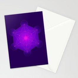 Metatron | Cube | Secret Geometry | Platonic | Matrix | Protects children Stationery Cards