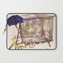 Egon Schiele - Street cart (new editing) Laptop Sleeve