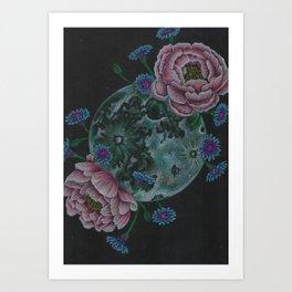 Flower Full Moon (May) Art Print