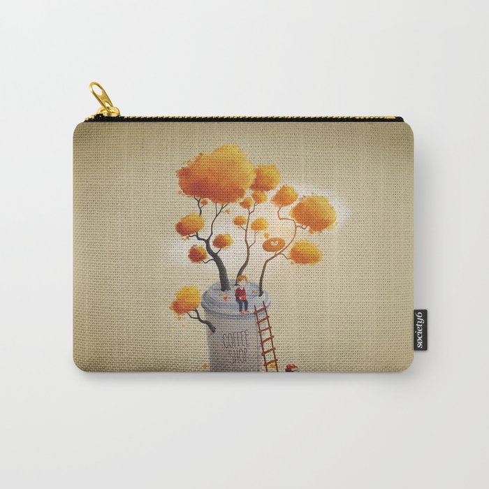 Coffee Shop Tree Carry-All Pouch