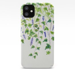 Ivy and Lavender Watercolor iPhone Case