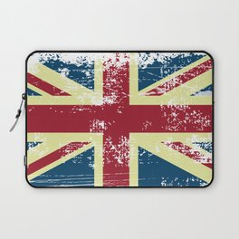 United Kingdom Grunge Flag Laptop Sleeve