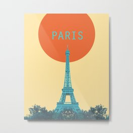 Paris Geometric Seventies Metal Print