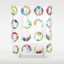 24 Dots Shower Curtain