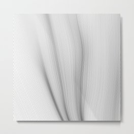 Wavy Lines Metal Print