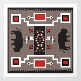 American Native Pattern No. 161 Art Print